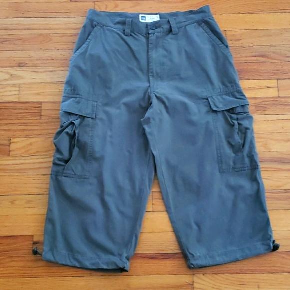 Khaki cropped cargo pants